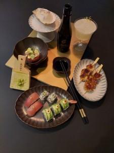 Japanische Speisen in 5 Gängen